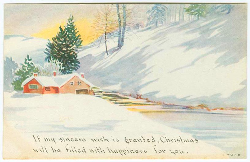 printable-christmas-cards-vintage-house-river-snow-painting